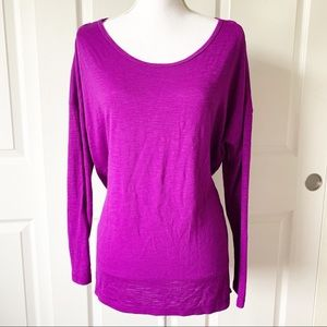 Xersion Athletic Long Sleeve Purple Shirt Size L